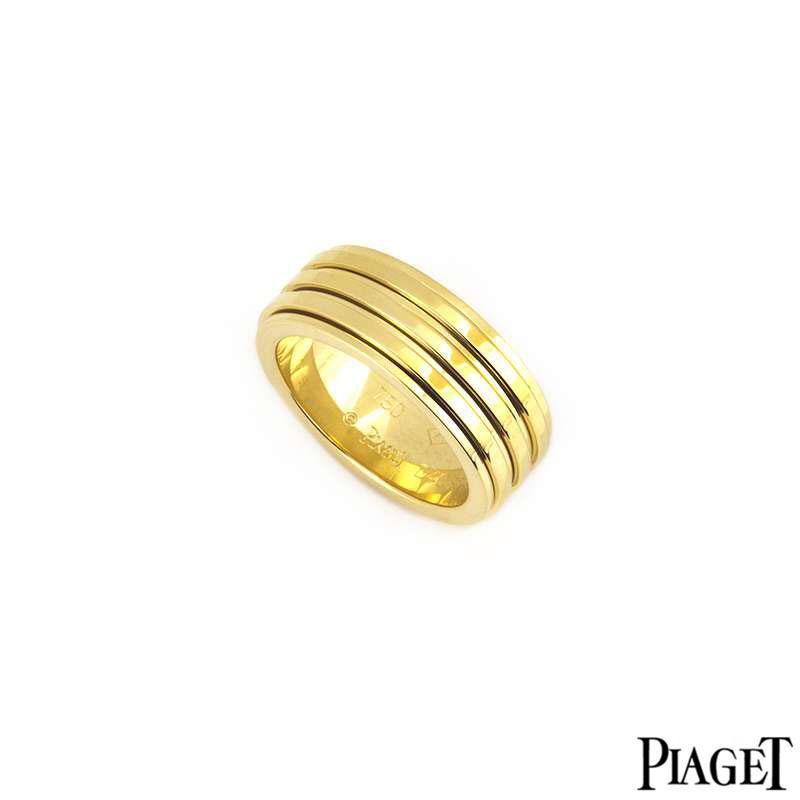 Piaget 18k Yellow Gold Possession Ring B&P G34PP455